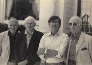 l. to r. Charles Saxon, James Geraghty, Dana Fradon, Whitney Darrow, Jr. at Westport-Longshore Inn Sept. 1982