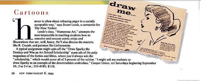 Stuart Leeds Cooper Union piece 1994